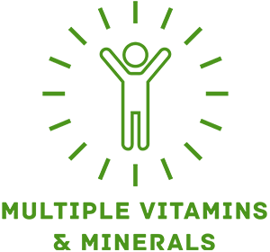Picture of multiple vitamins and minerals IV therapy icon